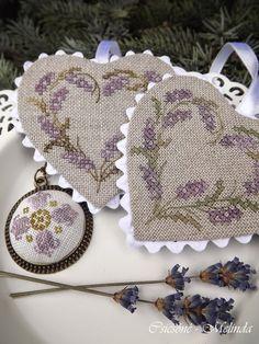 Cross-stitch Lavender Heart, part 1... Csicsóné - Xszemekkel az életem
