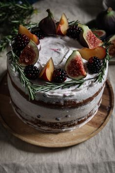 Black Tea Poached plum and Fig Cake