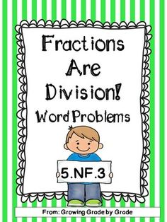 Viewing 1 - 20 of 30039 results for fractions are division 5 nf 3 word problem Improper Fractions, Teaching Fractions, Maths, Math Resources, Math Activities, Add And Subtract Fractions, Fraction Word Problems, Fraction Games, Common Core Math Standards