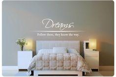Volg ook je dromen met deze Muursticker. Bestellen hem nu: http://www.muurteksten.nl/contents/nl/p918_Muurtekst_Dreams_Follow_Them.html