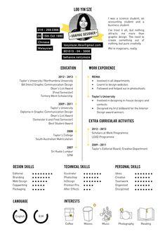 Yin Sze's Curriculum Vitae 2014 by Yin Sze Loo, via Behance Design Curriculum, Cv Curriculum, Resume Design Template, Cv Template, Resume Templates, Portfolio Resume, Portfolio Design, Portfolio Web, Web Design