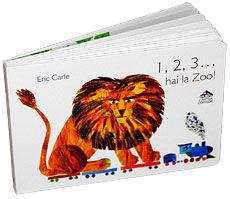 1, 2, 3... hai la Zoo! - Eric Carle; Varsta 0-6 ani; De o excelenta calitate grafica si utilizand inconfudabilele-i colaje, Eric Carle ii invata pe micuti sa numere. Trenuletul sau cu vagoane duce la zoo 1,2,3...10 animale. Baby Book To Read, Books To Read, Baby Books, Eric Carle, Catalog, Reading, Zoo, Brochures, Reading Books
