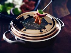 broth fondue recipes This recipe elevates a classic beef broth fondue using red wine and just a touch of fresh thyme leaves. Cake Ingredients, Homemade Taco Seasoning, Homemade Tacos, Hot Garlic Sauce, Broth Fondue Recipes, Dry Red Wine