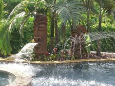 If you are working with the best backyard pool landscaping ideas there are lot of choices. You need to look into your budget for backyard landscaping ideas Tropical Backyard, Backyard Paradise, Tropical Landscaping, Pool Backyard, Pool Fun, Backyard Retreat, Landscaping Ideas, Tiki Hut, Tiki Tiki