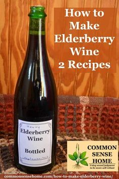 Two old fashioned elderberry wine recipes, plus tips for finding elderberries in the wild, and cleaning and processing the elderberries with less mess. Elderberry Bush, Elderberry Recipes, Elderberry Growing, Kombucha, Homemade Wine Recipes, Canning Recipes, Homebrew Recipes, Brewing Recipes, Red Wine Glasses