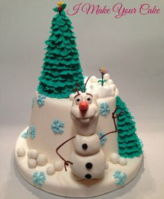 Olaf - by SosiP @ CakesDecor.com - cake decorating website