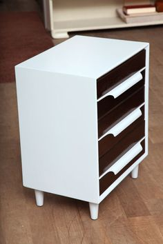 Lacquered Danish Nightstands image 3