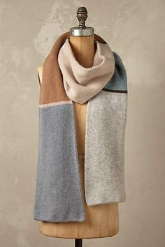 Glacier Colour Block Scarf - anthropologie.eu