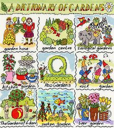 A Dictionary of Gardens - Bothy Threads cross stitch kit