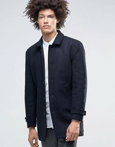 Minimum Jenkins Wool Overcoat with Collar and Quilted Lining