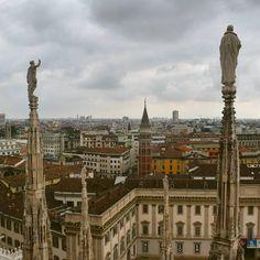 Topo do Duomo: arquitetura impressionante e vista maravilhosa - Instagram by 360meridianos