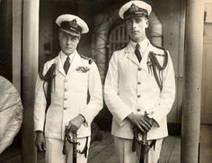 Louis Mountbatten With The Prince of Wales