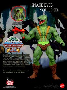MOTUC Kobra Khan Custom Print Ad Secret Power, Modern Toys, She Ra Princess Of Power, Comic Movies, Thundercats, Sideshow Collectibles, Print Ads, Toy Story, Cool Toys