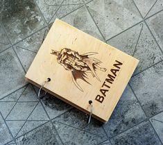 Batman Wooden Notebook Wood Notebook Valentines от WoodenMaden