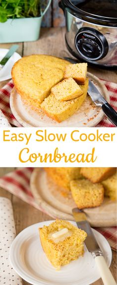 Go oven-less with this delicious slow cooker cornbread. A quick and easy recipe that cooks in your crock pot or slow cooker. recipes for slow cooker Slow Cooker Chili, Slow Cooker Fajitas, Slow Cooker Bread, Slow Cooker Enchiladas, Slow Cooker Lasagna, Slow Cooker Ribs, Bread Crockpot, Crock Pot Bread, Slow Cooker Breakfast