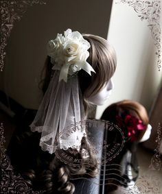 Fanplusfriend Lady's A Midsummer Night's Dream Gothic Elegant Lolita Lace & Rose & Gauze Hairdress