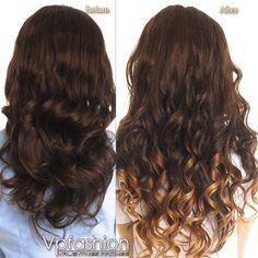 foto prima e dopo extension capelli clips