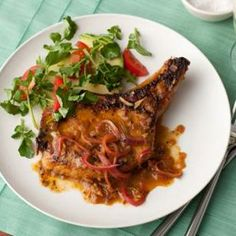 Cuban Pork Chops with Mojo