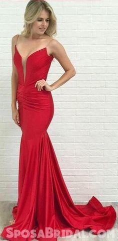 04b2b0fedc Gorgeous Simple Red Prom Dresses