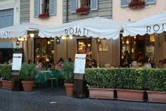 Rosati in Rome, Italy. Best place to people watch, on the Piazza de la Poppolo.