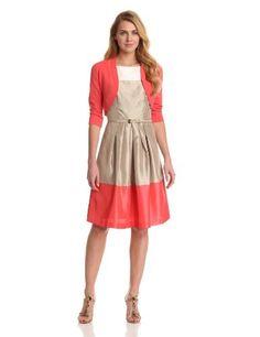 Jessica Howard Women's Sleeveless Colorblock Party Dress With Sweater, Stone, 14 Jessica Howard,http://www.amazon.com/dp/B009HJV0V8/ref=cm_sw_r_pi_dp_wCmorb0KV9YF4E41