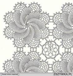 wzory na obrus szydełkowy - Szukaj w Google