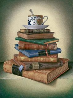 Old Books with Cup, John C. Hulse