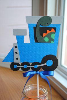 NEW  Dinosaur Birthday Train  Centerpiece Choose your by mlf465, $8.50