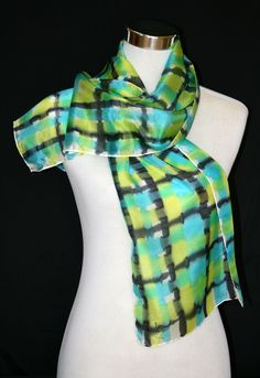 Beautiful handpainted natural silk scarf. Textiles, Hand Painted, Beautiful, Fashion, Textile Jewelry, Hand Fans, Shawl, Silk, Headscarves