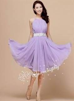 Nice light purple summer dress 2017-2018