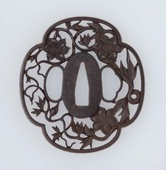 Tsuba with design of clematis | Museum of Fine Arts, Boston