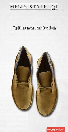 Desert boots, one of the top trends in menswear for 2012