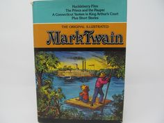The Original Illustrated Mark Twain - Vintage - Huckleberry Finn, Prince and the Pauper by CellarDeals on Etsy