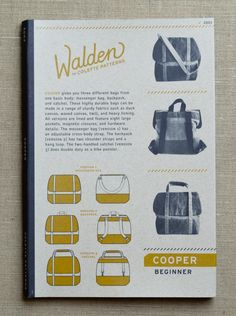 Cooper from Colette Patterns: The Cooper pattern from Colette gives you three different bags from one basic body: messenger, backpack and satchel. These highly durable bags can be made in a range of sturdy fabrics, like duck canvas, waxed canvas, twill, and heavy ticking. All versions are lined and feature eight large pockets, magnetic closures and hardware details. The messenger bag has an adjustable cross-body strap. The backpack has two shoulder straps and a hang loop. And the two-handled…