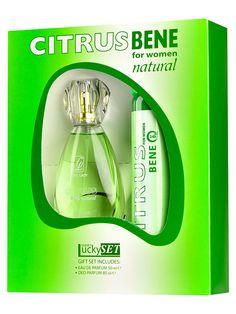 Set cadou dama Citrus Verde Bene Natural - Apa de parfum + Deodorant spray