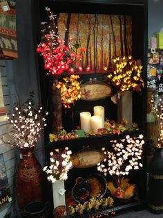 Decorating with lighted flowers adds a warm touch to every room. Perfect for fall!