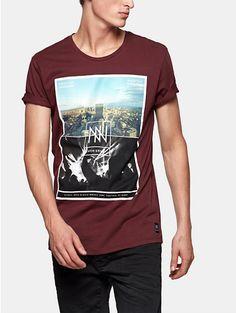 Print T-shirt Darkred - The Sting
