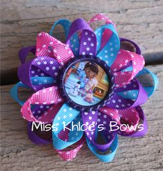 Doc McStuffins Polka Dot Loop Bow from Miss Khloe's Bows