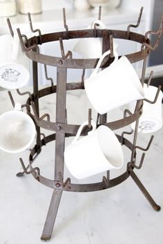 Antique drying rack...@Janet Verbarg this would be cute if there isn't room for the wall racks