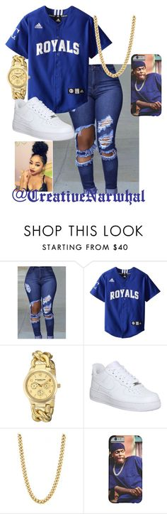 """Royals"" by creativenarwhal on Polyvore featuring Stührling and NIKE"