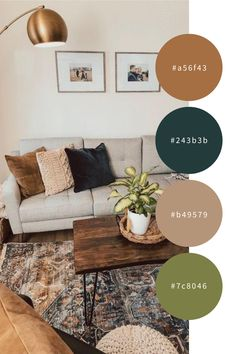Boho Living Room, Living Room Colors, Home And Living, Living Room Designs, Living Room Ideas Earth Tones, Living Rooms, Color Palette For Home, Room Color Schemes, Apartment Color Schemes