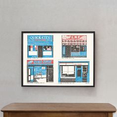 "Poster ""East London Shops"""
