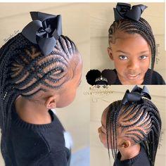 2019 Lovely Stunning Braids for Kids - Braided Hairstyle Little Girl Braid Styles, Kid Braid Styles, Little Girl Braids, Girls Braids, Mohawk Braids For Kids, Mohawk Styles, Lil Girl Hairstyles, Black Kids Hairstyles, Natural Hairstyles For Kids
