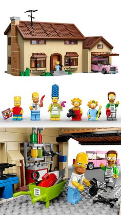Lego Simpsons House The Simpsons series has launched literally thousands of offshoot products but few pack the awesome of The Lego Simpsons House set. This 2,523-piece set includes their fully furnished house, car, & garage plus 6 Simpsons minifigs. Available May 2014.