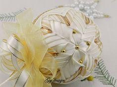 Gold dream Christmas ornament  patchwork ornament  xmas baubles quilted ornaments Christmas baubles gold ornaments wedding ornaments