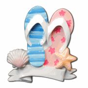 Vacation - Holiday   Personalized Flip Flop Family Ornament - 2   http://www.inspiredbrush.com/ibor1088-2.html# Christmas Ornament to decorate your Christmas Tree. Ready to celebrate this special holiday together. Remember the Summer Fun the family had together on the beach.  Celebrating the holidays with a Christmas wish to decorate your tree. This adorable Christmas Ornament will make a treasured keepsake