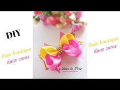 Laço Boutique duas cores  DIY - YouTube