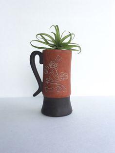 Leopoldo De Mexico Pottery Mug or Stein by SandHollowVintage