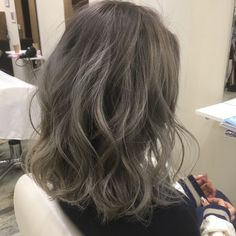 Pin on Hair styles to try out Short Permed Hair, Medium Short Hair, Medium Hair Styles, Curly Hair Styles, Ash Hair, Ombre Hair, Colored Curly Hair, Hair Arrange, Corte Y Color