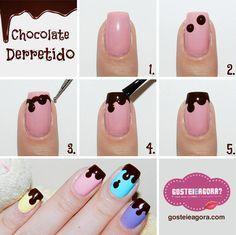 Chocolate escorrendo - passo a passo - tutorial. Lindas e divertidas.